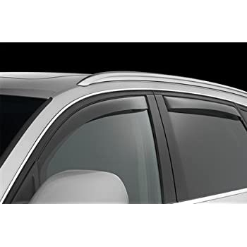 Air//Rain Guards Ventvisor Compatible with Acura MDX III 2013 Car Trim Side Vent Shades Chrome Window Deflector Set of 4-Pieces