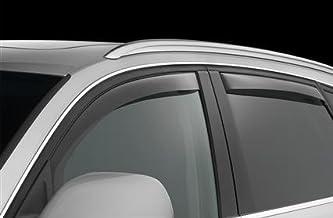 Mitsubishi Montero deflectores de Viento Sun Viseras Lluvia Guardia Moldura Exterior Cover Set 2004 2005 2006