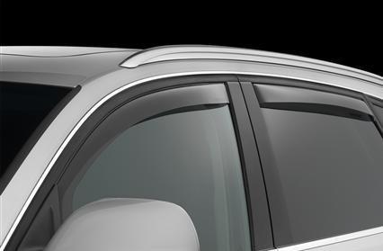 Audi Q7 Q7 Q 7 Windabweiser Sonnenblenden Regen Guards Exterior Trim Bezug-Set 2011 2012 2013 2014 2015