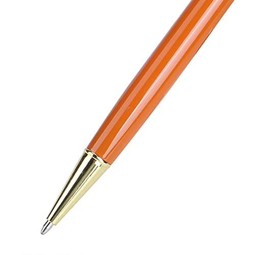 Stylo à huile en métal à fleur flottante Convient pour le bureau et l'étude lisse pour l'écriture(Y11, Polar Animals)