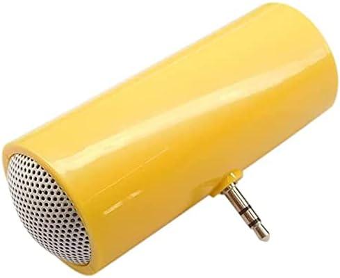 Stereo Wireless Connector Speaker Stereo Mini Speaker Player Amplifier Loudspeaker for Mobile Phone Mini Portable Speaker for Phone/Tablet/Computer 3.5mm (Color : Yellow)