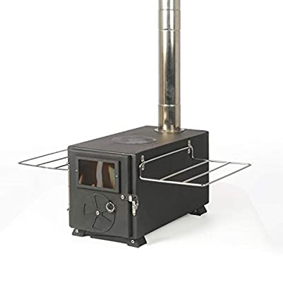 YILI Outdoor Camping Stove, Portable Tent Wood Stove with Pipe, Heating Burner Stove for Camping, Ice-Fishing, Cookout, Hiking, Travel, Backpacking Trips