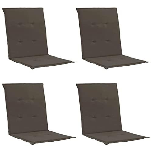 vidaXL 4X Gartenstuhl Auflage für Niedriglehner Kissen Sitzkissen Stuhlkissen Polster Stuhlauflage Sitzauflagen Sitzpolster Anthrazit 100x50x3cm