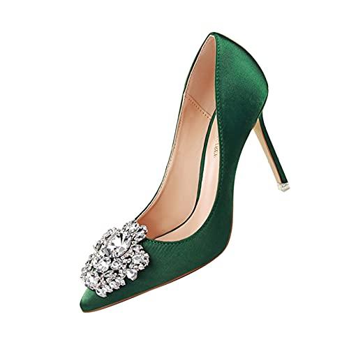 Zapatos de Tacón de Aguja de Tacón Alto para Mujer, Zapatos de...