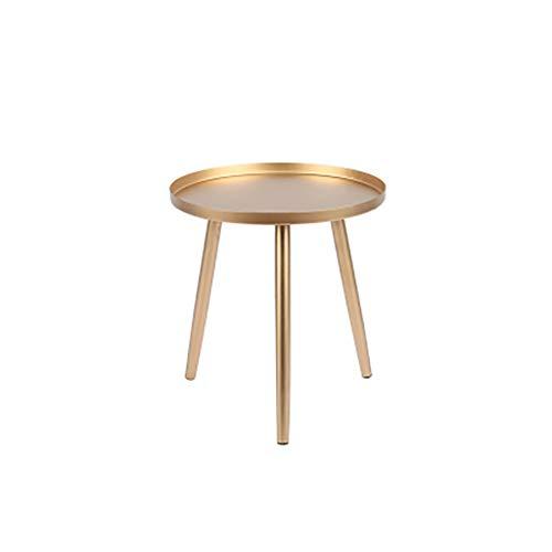 table basse Nordic Iron art Salon moderne simple Canapé Rond Petite table (Couleur : A, taille : 42cm*40cm)