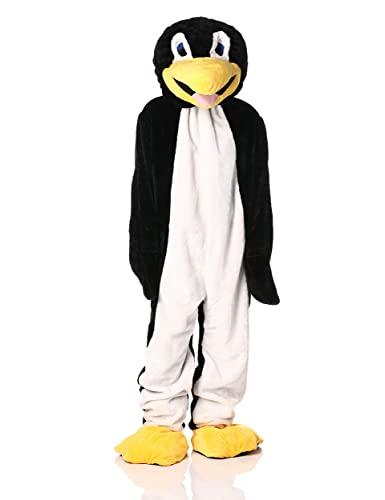 Forum Deluxe Plush Penguin Mascot Costume, Black/White, One Size