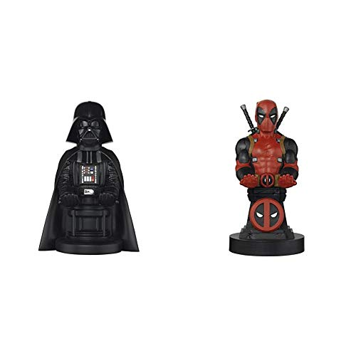 Cable Guy - Darth Vader - Controller and Device Holder & Cable Guy - Marvel Deadpool - Charging Controller and Device Holder - Toy - Xbox 360