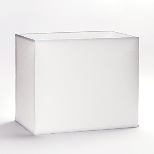 Abat-jour rectangulaire en tissu, E27, blanc, 32 cm, 40 cm, Weiß, 40x22cm (Höhe:24cm)