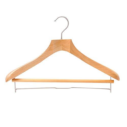Gyubay Balcony Hanger Pack Of 8 Heavy Duty Wood Suit Hangers Dresses Coat Pants Jacket Hangers with Wide Shoulder Home Cabinet Supplies (Color : Natural, Size : 43.5 * 29cm)