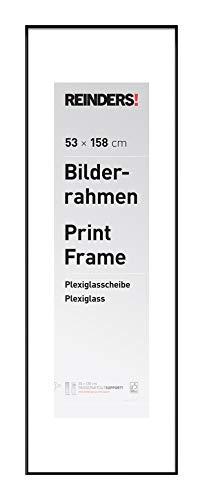 REINDERS Bilderrahmen Wechselrahmen Poster Schwarz Kunststoff Jumbo 53x158cm - 54 x 159 cm Wohnzimmer