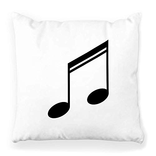 Fantastic Fairy Soft Square Pillow Cover 20x20 Music Note Icon Collection Key Abstract Bass Black Clef ClipCrotchets Disk Dj Eight Home