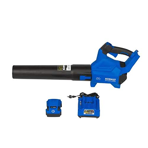 Kobalt 24-Volt Max 120-MPH Brushless Handheld Cordless Electric Leaf Blower 4 Ah (Battery Included and Charger Included) -  KBT, KHB 4224A-03