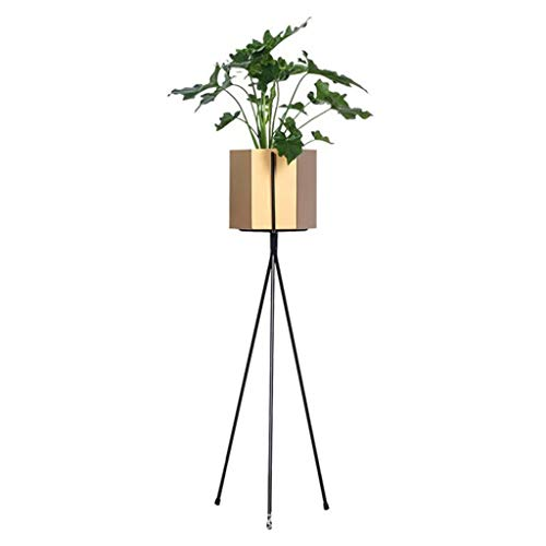 Flower stands ladder Classic Modern Flower Stand Metal Baking Paint, for Garden Patio Standing Display Doors Indoor Decorative (Color : Gold, Size : 65x13cm)