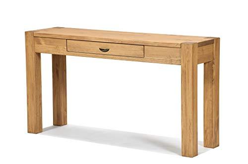 Naturholzmöbel Seidel Sideboard Massivholz Konsole Anrichte Schreibtisch Wandtisch, Rio Bonito, 160x38cm Pinie massiv Honig hell