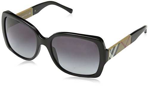 Burberry 0BE4160 34338G 58 Occhiali da Sole, Nero (Black/Grey Gradient), Donna