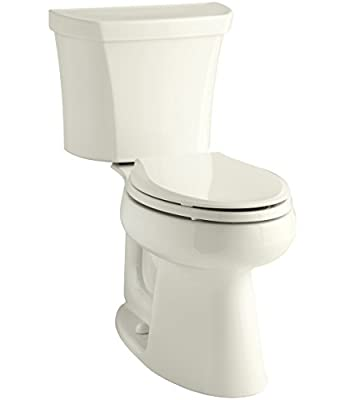 KOHLER Highline Comfort Height Two-Piece Elongated Dual-Flush Toilet with Class Five Flush Technology and Right-Hand Trip Lever