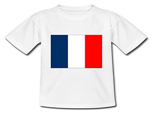 YONACREA - T-Shirt Bébé - Drapeau France - 18 Mois