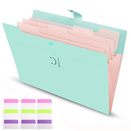 Harmonijkowa teczka na dokumenty Rozszerzalne teczki A4 Folder z przegródkami z zapięciem na klamrę do domu, biura, szkoły, folder z kieszeniami