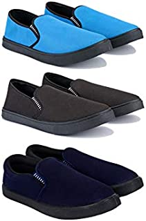 Bersache Men's Combo Pack of 3 Canvas Casual Shoes