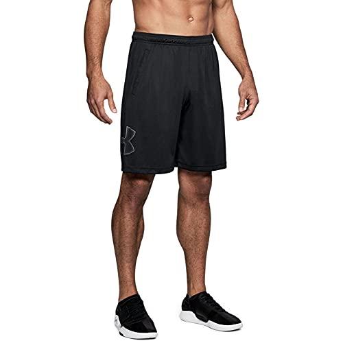 Under Armour UA Qualifier 2-in-1 Shorts, atmungsaktive Laufshorts, komfortable Sporthose mit Seitentaschen Herren, Mod Gray / Pitch Gray / Pitch Gray, L
