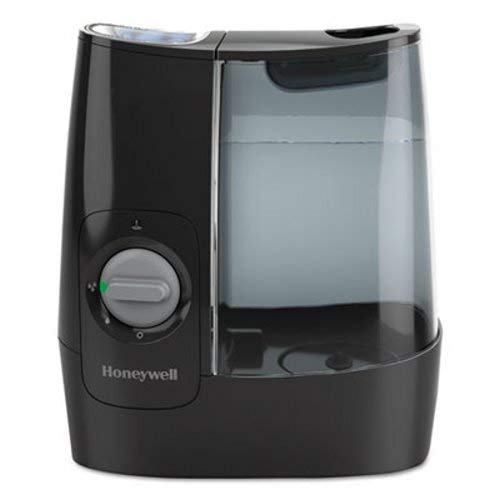Honeywell HWM845B Filter Free Warm Moisture Humidifier Black Ultra Quiet Filter Free with High & Low Settings, 1-Gallon Tank for Office, Bedroom, Baby Room