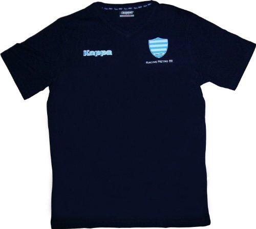 Racing Metro 92 Kappa Herren Rugby-T-Shirt, offizielle Kollektion, blau, Small