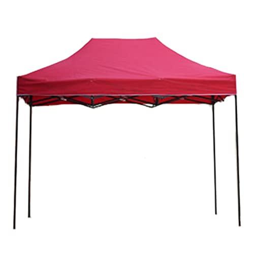 3ZH Triumph 8x10 FT Pop Up Party Tienda de la Fiesta, Bodas Party Tent Tarifón Rojo for Acampar al Aire Libre