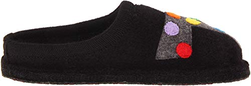 HAFLINGER Jack Women's Wool Slippers, Black, 39 EU