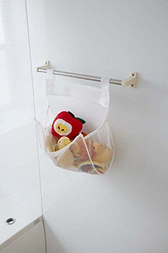 山崎実業『お風呂おもちゃ袋スクエア』