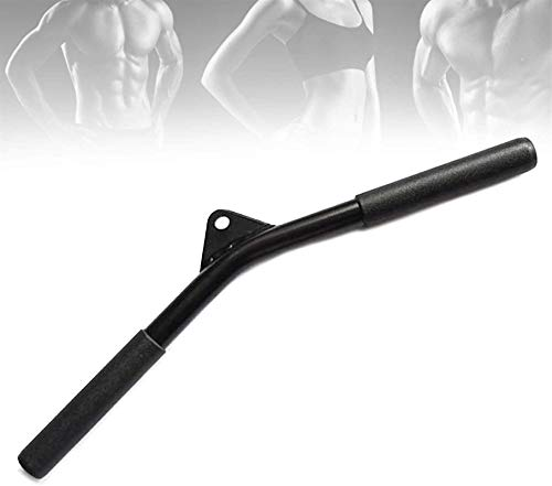 WXking Cable de múltiples gimnasio con mango V con empuñamientos antideslizantes, barra de rizo de bíceps para entrenamiento de fuerza, gimnasio para el hogar, ejercicio de fitness, levantamiento de p