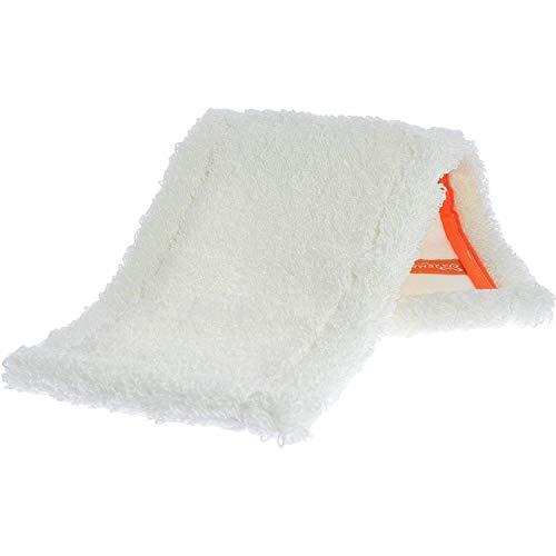 Jemako Bodentuch Wischbezug Bodenwischer, Boden-Faser Weiß 42cm, zum Feuchtwischen von Laminat und geöltem Parkett, zum Nachtrocknen