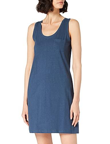 Schiesser Damen Sleepshirt 0/0 Arm, 90cm Nachthemd, Petrol, 44