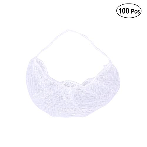 HEALIFTY Einmal-Bartschutz Barba für Gesundheitswesen 100 Stück (weiß)