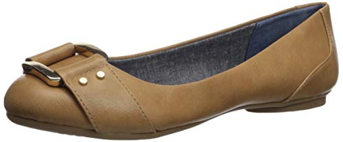 Dr. Scholl's Shoes Women's Frankie Ballet Flat, Nude Smooth, 9 M US