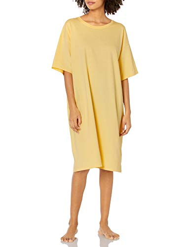 Hanes Women's Wear Around Nightshirt, Daffodil Yellow, One Size