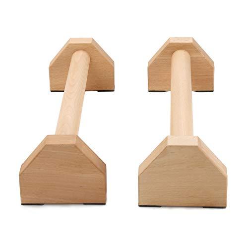 Liegestütze Griff, rutschfest Stabil Komfortabel Parallettes Holz Push up Griffe Krafttraining für Yoga Crossfit Gymnastik Training