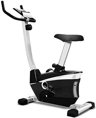 YXYY Bicicleta de Ejercicios Life Totalmente Ajustable con Sensor de frecuencia cardíaca, Asiento Ajustable y Pantalla LED para Ejercicios cardiovasculares en el hogar, Volante de inercia bidirec