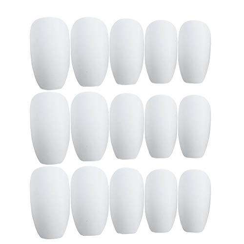 3 ensembles givré nail art autocollant faux ongles autocollants manucure décor créatif nail autocollant (24pcs / set)
