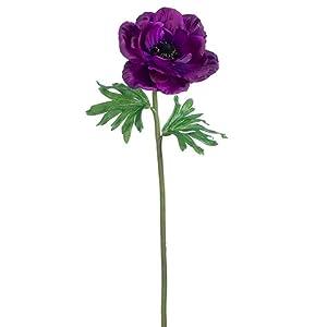 20″ Anemone Spray Purple (pack of 12)