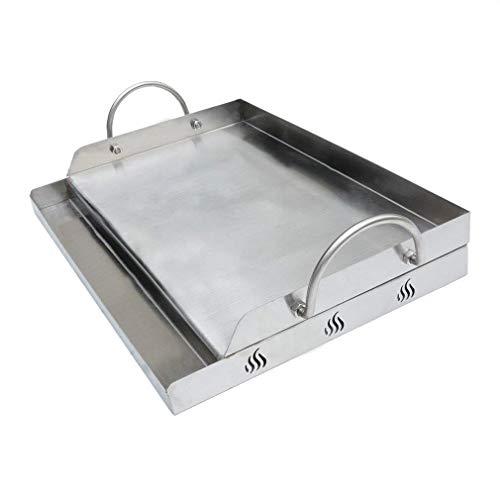 Onlyfire Plancha rectangular de acero inoxidable para la mayoría de parrillas de gas y parrillas de carbón (58,4 x 40,6 cm)