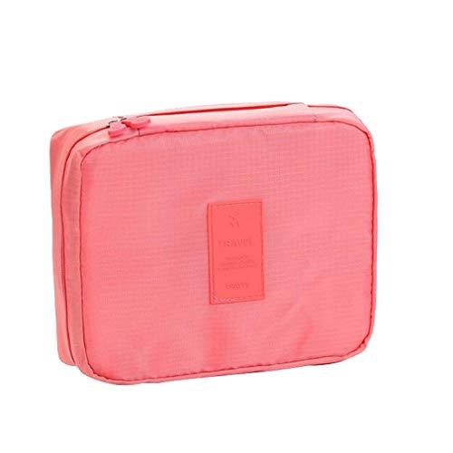BlackEdragon Koreanische Reisewaschtasche Einfache Kosmetiktasche Aufbewahrungstasche Kleine Tasche Quadratische Tasche Wassermelone Rot