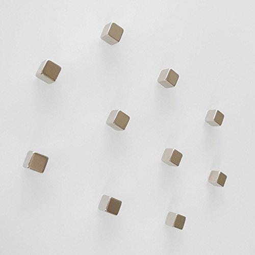10 Neodym Würfel Magnete für Glas Magnettafel/Magnetwand/Magnetboard/Memoboard