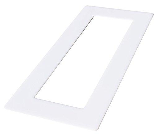 Acrylglas Dekorrahmen weiß 1-fach 2-fach 3-fach 4-fach Tapetenschutz Wandschutz für Lichtschalter und Steckdosen (weiß 3-fach)
