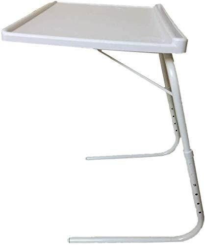 Mesa Plegable Auxiliar Mesa portátil con sujeción para Tablet Mesa Ajustable y Plegable Ranura...
