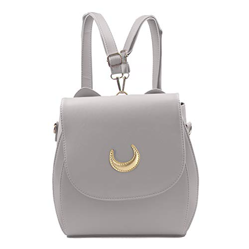 Oweisong Women Moon Sailor Purses and Handbags Cute Cat Anime Backpack Fashion Sparkling Satchel Tote Shoulder Bag