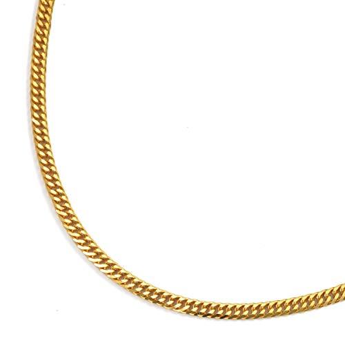 純金 喜平ネックレス K24 6面カットダブル 11g 50cm 引輪 造幣局検定マーク 刻印入り ユニセックス 喜平 チェーン