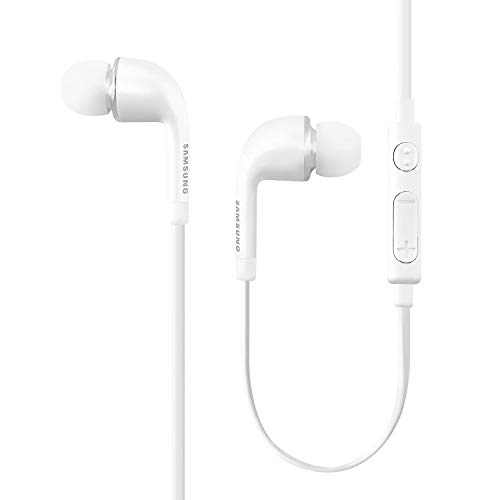 2 x Samsung 3.5mm in-Ear Stereo Headset OEM EO-EG900BW, White (Bulk Packaging)