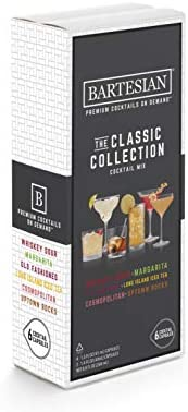Bartesian The Classic Collection Cocktail Mixer Capsules Variety Pack of 6 Cocktail Capsules product image