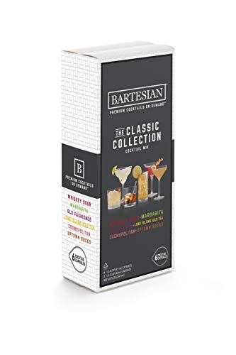 Bartesian The Classic Collection Cocktail Mixer Capsules, Variety Pack of 6 Cocktail Capsules, for Bartesian Premium Cocktail Maker (55350)