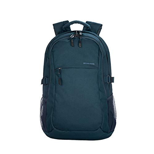 Tucano - Ecolive - Zaino per MacBook PRO 15', Laptop 15.6', Notebook 14'. Materiale Riciclato 100%. Ecologico. Ottenuto dal Pet. Doppia Tasca Interna Imbottita per Notebook e Tablet. Blu Scuro